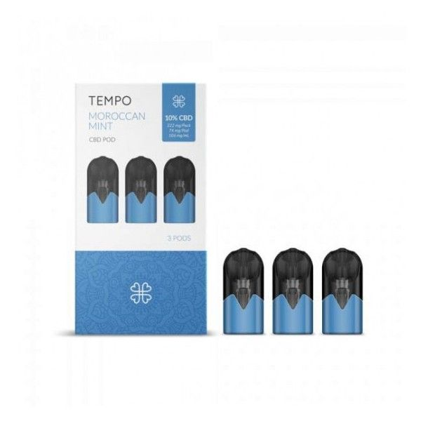 TEMPO POD AU CBD PACK DE 3 DOSETTES TEMPO - 10% CBD - MENTHE MAROCAINE